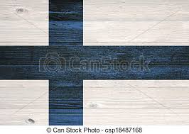 vintage wood plank finland flag painted on wood plank background finland