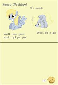 Mlp Birthday Card Derpy Birthday Card By Theamazingnoodle On Deviantart