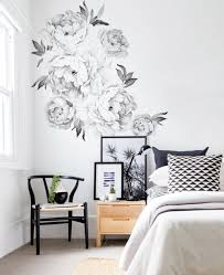 peony flowers wall sticker watercolor peony wall stickers peel peony flowers wall sticker