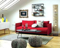 red leather sofa living room red couches decorating ideas nourishd co