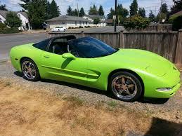 painted the vette lime green with plasti dip corvetteforum