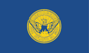 Blue Flag With Yellow Circle File Flag Of Atlanta Svg Wikimedia Commons