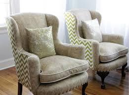 Beige Wingback Chair Before U0026 After Reupholstered Wingback Chairs U2013 Design Sponge