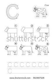 tutorial vector c vector illustrated alphabet kid educational game stock photo photo