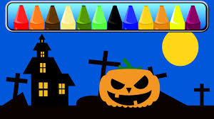 Halloween Pumpkin Coloring Page Halloween Pumpkin Coloring Book Scary Color Book Learn Shapes