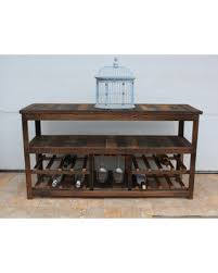 sofa table with wine rack here s a great price on 50 rustic tv stand or sofa table wine