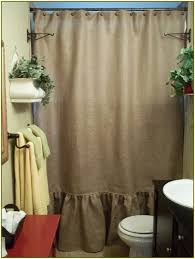 Smocked Burlap Curtains Burlap Shower Curtain With Bullion Fringe Home Decorating
