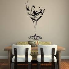 aliexpress com buy zn elegant wine glass wall stickers for