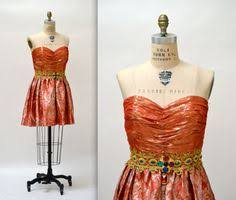 80s Prom Dress Size 12 Vintage 80s Prom Dress Size Small Medium Metallic Green Vintage