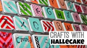 how to make a washi keyboard crafts with hallecake