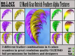 mardi gras feathers second marketplace ro act designs 12 mardi gras ostrich