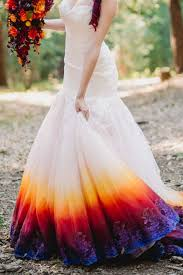 colorful wedding dresses a woodsy summer wedding inspired by colors of the sunset