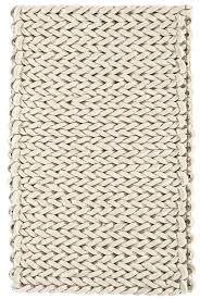 helix felted wool rug ivory