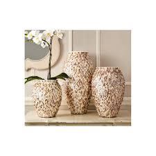 tozai home decor shingled natural vases set of 3 tozai home walls within