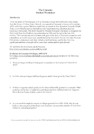 lindsey blog free worksheets on the crusades