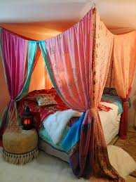 Boho Bed Canopy Boho Bed Canopy Hippie Hippy Hippiewild Patchwork India Sari