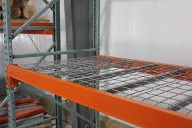 inside waterfall wire decking warehouse rack and shelf