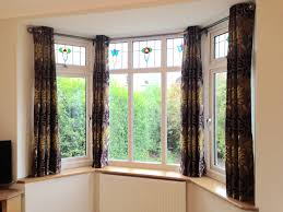 bay window blinds and curtains dressing windows magnificent and