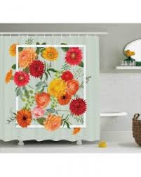 Shabby Chic Shower Curtains Flower Shower Curtain Shabby Chic Roses Tulips Print For Bathroom