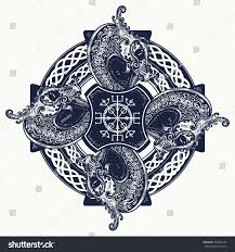 celtic cross tattoo art tshirt design stock vector 550944106