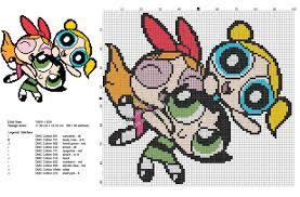free cross stitch pattern powerpuff girls 99x90 free cross