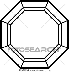clipart of blank fancy frame geometric mandala octagon