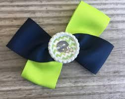 seahawk ribbon seattle seahawks bow etsy