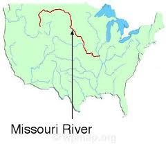 map of missouri river missouri river on the map missouri map