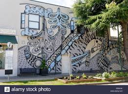 vancouver mural stock photos vancouver mural stock images alamy mural by artist ola volo on the side of a building in south granville vancouver