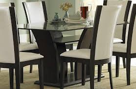 Espresso Pedestal Dining Table Table Round Black Pedestal Dining Table With Leaf Stunning Round