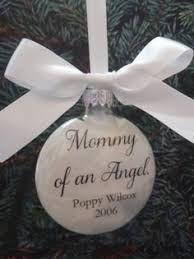 memorial ornaments parents of an angel memorial ornament can be personalized with