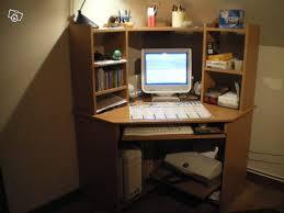 bureau ordinateur angle wonderful bureau d angle avec surmeuble 1 bureau informatique