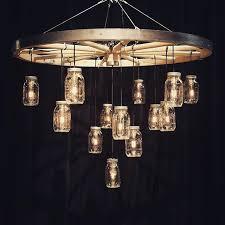 Mason Jar Ceiling Fan by 25 Best Wagon Wheel Chandelier Ideas On Pinterest Wagon Wheel