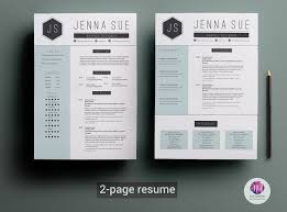 copy of a resume format 2 2 page resume template resume templates creative market