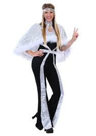 Plus Size Halloween Costumes For Women Dazzling Silver Disco Costume For Plus Size Women