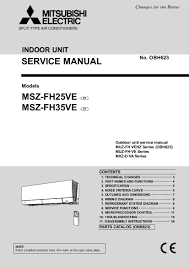 mitsubishi electric air conditioner service manual air