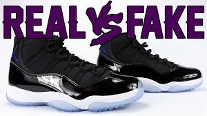 real vs fake air jordan 11 space jam 2016 legit check youtube