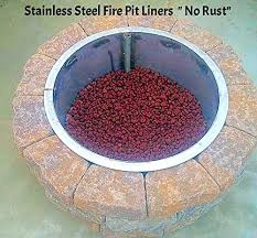 Fire Pit Liners by Amazon Com Stainless Steel Fire Pit Ring Liner With Top Flange