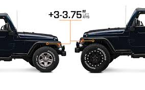 lift kits for jeep wrangler 1997 2006 jeep wrangler lift kits extremeterrain free shipping