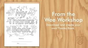 free printable my thanks book things to make and do crafts