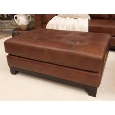 Square Brown Leather Ottoman Sofa Square Leather Ottoman Coffee Table Rectangle Ottoman White