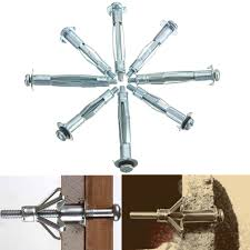 Hollow Wall Anchors Tv Mount 10pcs Metal M4 Plasterboard Drywall Cavity Wall Anchors Brolly