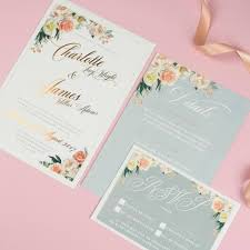 foil wedding invitations foil pretty floral wedding invitations eivissa
