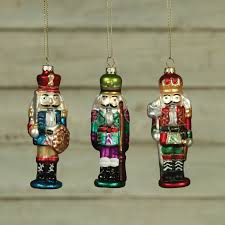 nutcracker ornaments nutcracker glass ornaments set of 3 by homart seven colonial