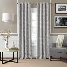 blackout julianne gray blackout window curtain panel 52 in w x