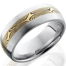 mokume gane 18k mokume gane cobalt chrome ring by titanium buzz