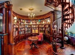 creating a home library that s smart and pretty incorporate rounded architectural lines