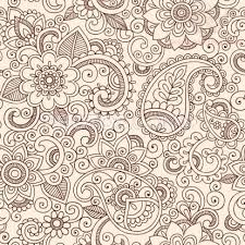 paisley pattern leaves and flowers designs