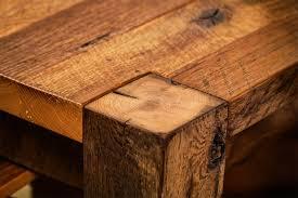 timber ridge reclaimed barn wood dining table