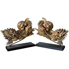 foo lions for sale pair of qing dynasty carved and gilded foo dog and lion